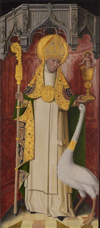 Image of St Hugh of LIncoln with the white swan