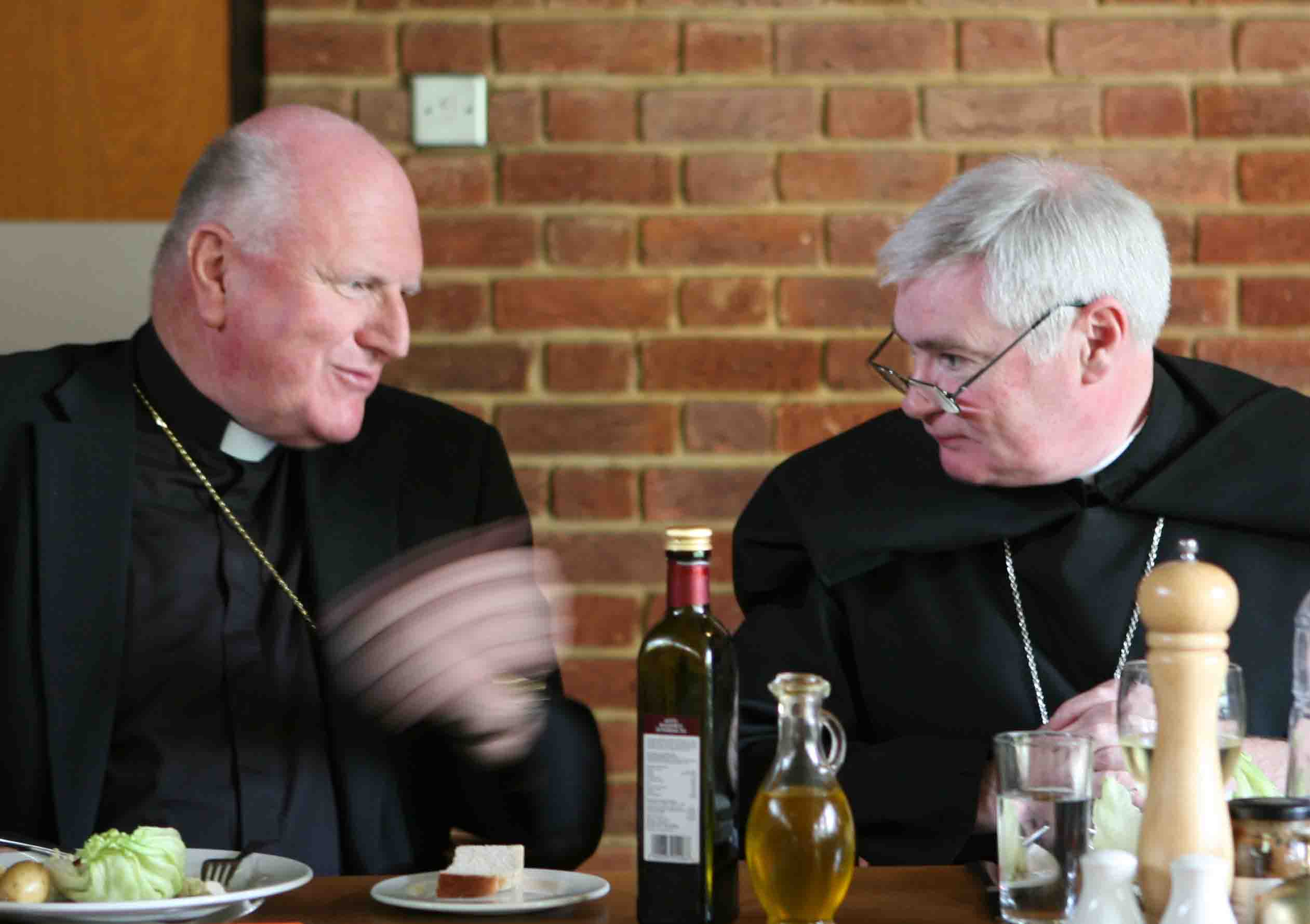 photo of Most Rev. Denis Hart, Archbishop of Melbourne; Rt Rev. Martin Shipperlee, Abbot of Ealing