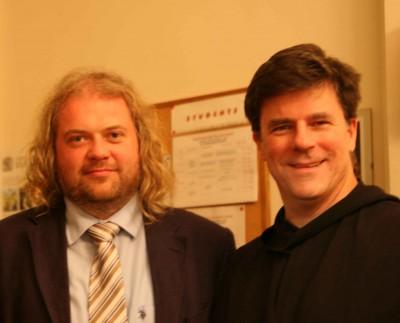 photo of Prof Dr Joris Geldhof, KU Leuven; Rev Dr Daniel McCarthy, OSB, Atchison, Kansas