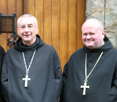 Abbot Philippe Dupont of Solesmes visits Abbot Cuthbert Brogan at Farnborough