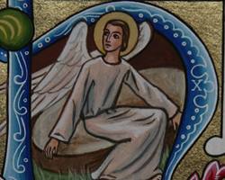 The Angel at the empty tomb: He is risen, Alleluia