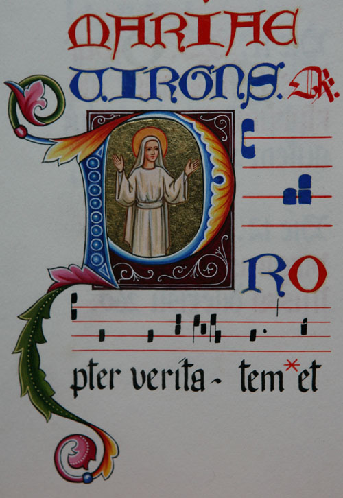 illuminated manuscript of Easter Sunday, Farnborough Abbey