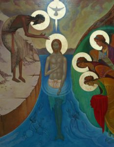 Icon of the baptism of Christ: Architecture for liturgy